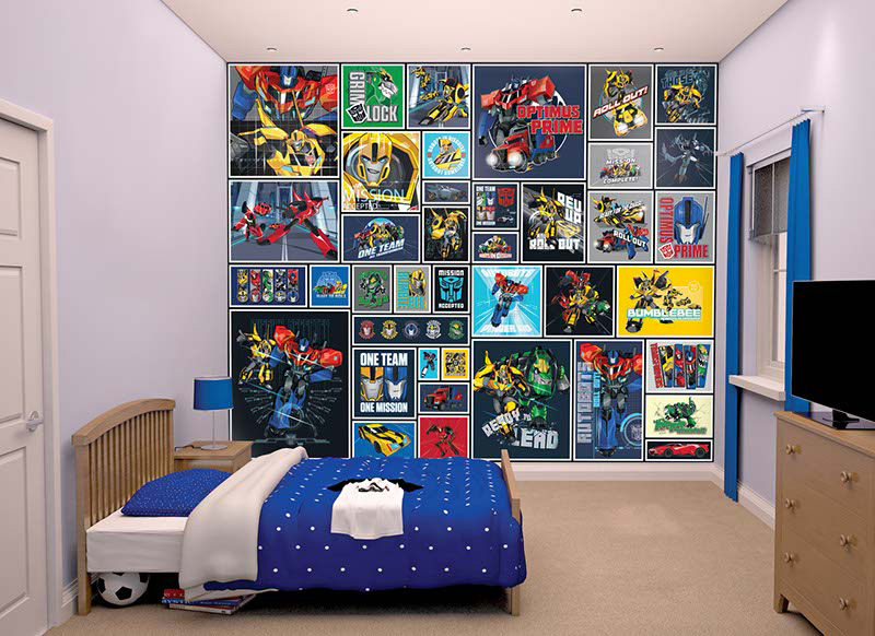 3D  tapeta Transformers Walltastic