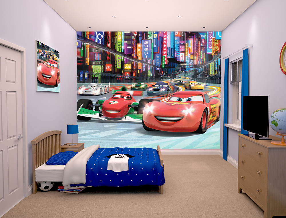 Auto postele pro d ti for Disney car bedroom ideas