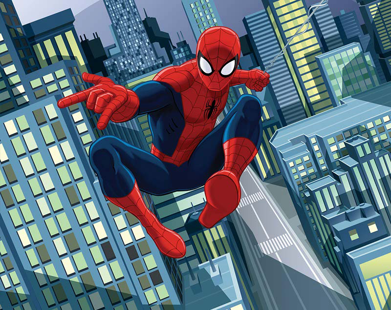 3D tapeta ULTIMATE SPIDERMAN Walltastic